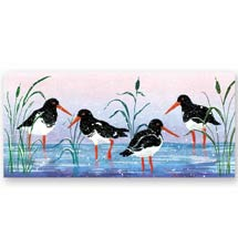 In the shallows RSPB charity Christmas cards - 10 pack product photo