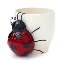 Ladybird metal pot hanger ornament product photo