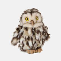 Little owl plush toy with recycled eco stuffing product photo