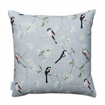 Lorna Syson cushion grey long-tailed tit product photo