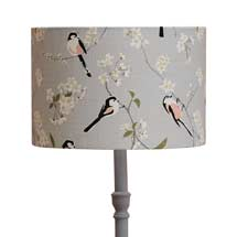 Lorna Syson long-tailed tit lampshade, grey product photo