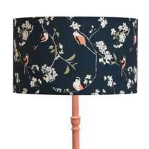 Lorna Syson bird lampshade, navy product photo