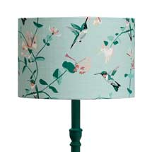Lorna Syson hummingbird lampshade, mint product photo
