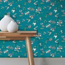 Lorna Syson wallpaper, teal product photo