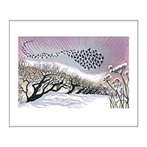 Mid Winter Starlings card product photo
