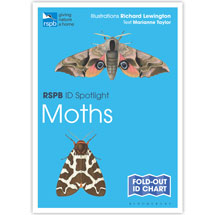 Moths identifier chart - RSPB ID Spotlight series product photo
