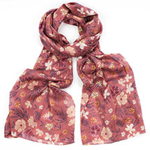 Pink ditsy RSPB organic cotton scarf product photo