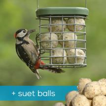 RSPB Ultimate suet feeder + suet balls offer product photo