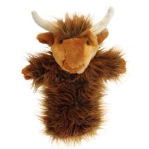 Highland cow hand puppet product photo