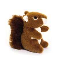 Red squirrel cuddly toy, eco product photo