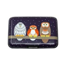 RFID credit card protection wallet, owl product photo