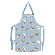 Robins in the snow apron product photo
