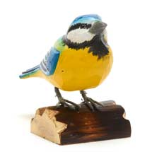 Wooden blue tit ornament product photo