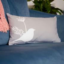 RSPB Free as a bird grey cushion product photo