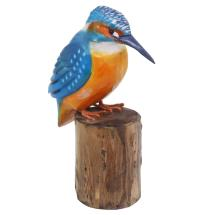 Wooden kingfisher ornament product photo