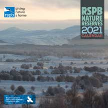 RSPB Nature reserves calendar 2021 product photo