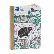 RSPB Nature's print Hedgehog A6 notebook product photo