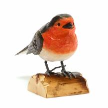 Wooden robin ornament product photo