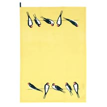 RSPB Swallows tea towel yellow product photo