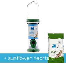 RSPB Ultimate easy-clean seed feeder + 1.8kg sunflower hearts, small product photo