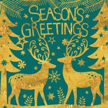 Seasons greetings RSPB charity Christmas cards - 10 pack product photo