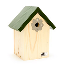Shaped nest box plate, flower product photo