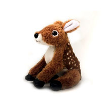 Fallow deer cuddly toy, eco product photo