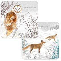 Snowy scene RSPB charity Christmas cards - 10 pack product photo