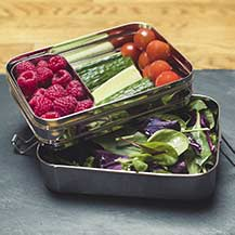 Stainless steel lunch box 3 piece set product photo