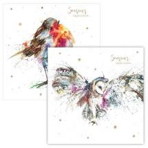 Starry greetings RSPB charity Christmas cards - 10 pack, 2 designs product photo