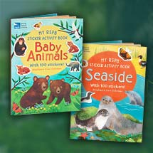 Sticker activity books - RSPB Baby animals and Seaside double pack product photo