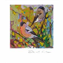 The bullfinches by Daniel Cole card product photo