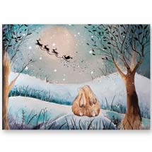 The night before Christmas RSPB charity Christmas cards - 10 pack product photo