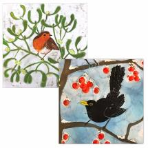 The proudest pair RSPB charity Christmas cards - 10 pack product photo