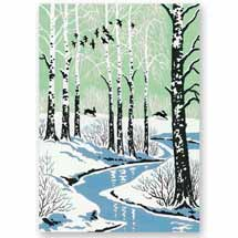 Through the trees RSPB charity Christmas cards - 10 pack product photo