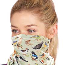 Snood face mask, birds design product photo