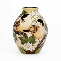 Moorcroft vase, Willow tits product photo