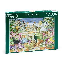 Winter garden jigsaw product photo