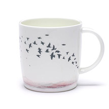 Winter Skies mug pink product photo
