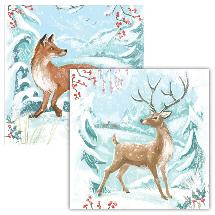 Winter wonderland RSPB charity Christmas cards - 10 pack, 2 designs product photo