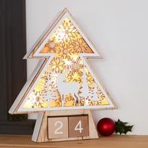 Wooden tree countdown light product photo