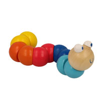 Woody the worm wooden toy product photo