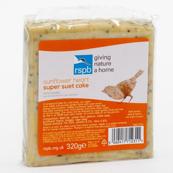 Super suet cakes sunflower hearts x10 product photo Front View - additional image 1 L