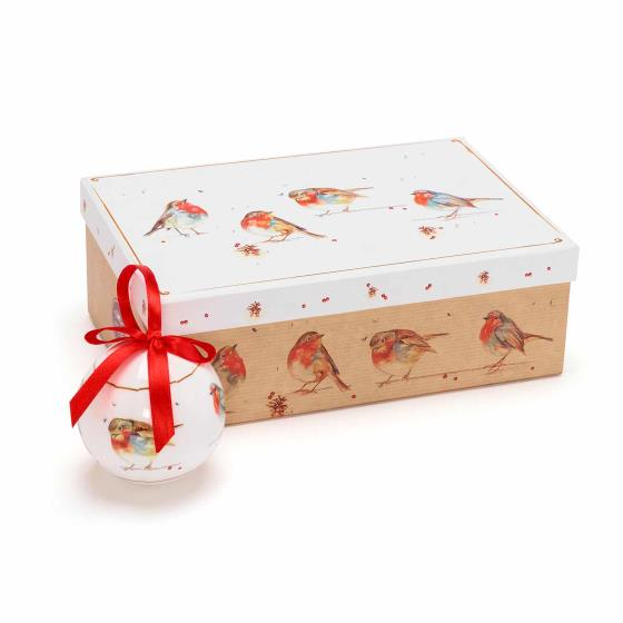 Robin Christmas baubles product photo Front View - additional image 1 L