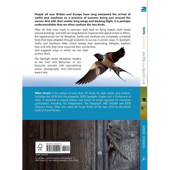 RSPB Spotlight swifts and swallows product photo Front View - additional image 1 L