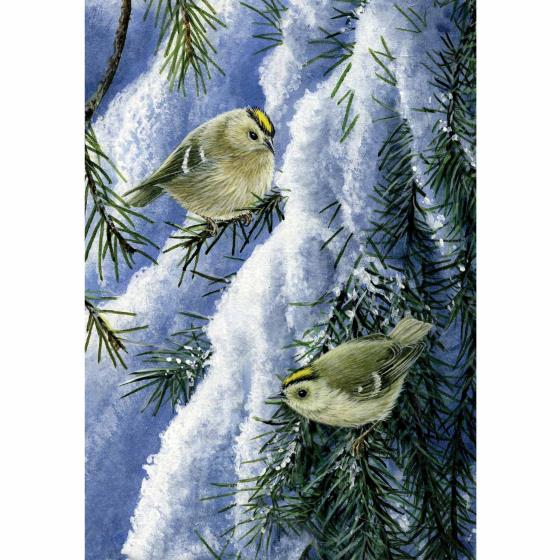 A golden Christmas RSPB charity cards - 10 pack product photo Back View -  - additional image 2 L