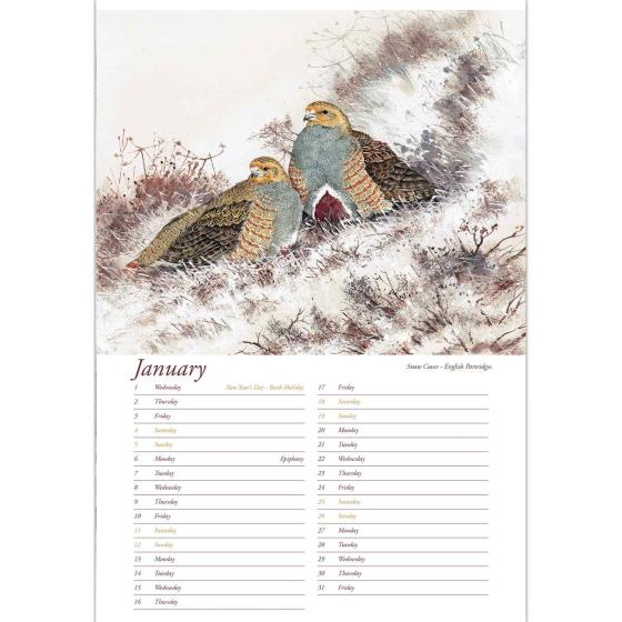 Artists Studio 2020 wall calendar product photo Side View -  - additional image 3 L