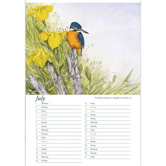 Artists Studio 2020 wall calendar product photo Back View -  - additional image 2 L