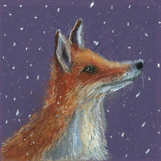 First snow RSPB charity Christmas cards - 10 pack product photo Side View -  - additional image 3 L