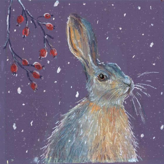 First snow RSPB charity Christmas cards - 10 pack product photo Back View -  - additional image 2 L